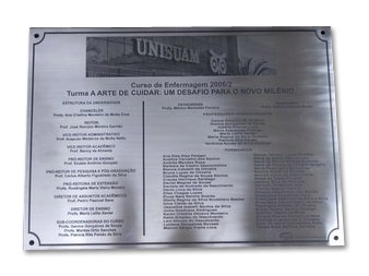 Placas Universitárias e Formaturas